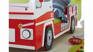 Kinderbett 90x200 Auto : feuerwehrbett kinderbett spielbett in rot liegefl che 90x200 cm ~ Whattoseeinmadrid.com Haus und Dekorationen
