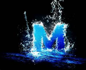 Letter M in a splash of water by lesliecota on DeviantArt