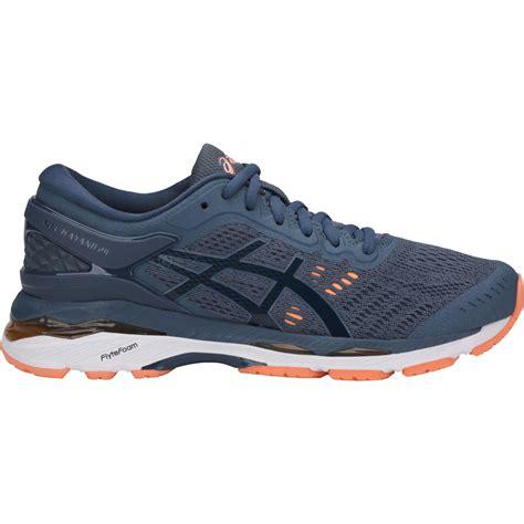 Asics Womens GEL-Kayano 24 Running Shoes - Smoke Blue/Dark ...