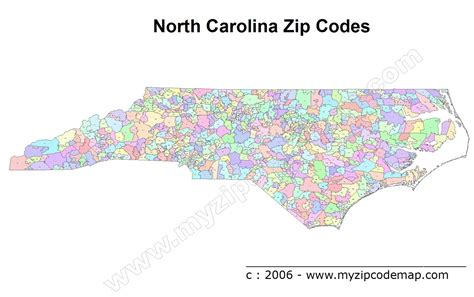 north carolina zip code maps free north carolina zip