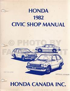 1983 Honda Civic Repair Shop Manual Original