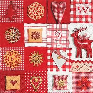 Serviette De Noel En Papier : serviette en papier no l patchwork serviette en papier no l creavea ~ Melissatoandfro.com Idées de Décoration