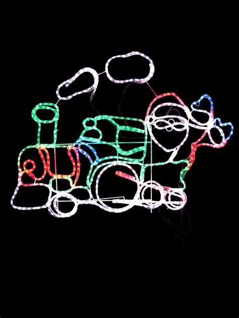 rope light santa santa steam led rope light silhouette 1 2m lights the warehouse