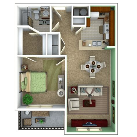 1 Bedroom Apartment Floor Plans by Senior Apartments Indianapolis Floor Plans