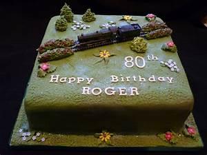 Steam Train birthday cake Supercakes - Diane Fry