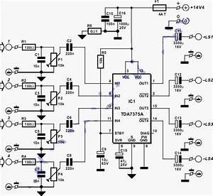 Rangkaian Power Amplifier Menggunakan Ic Tda 7388