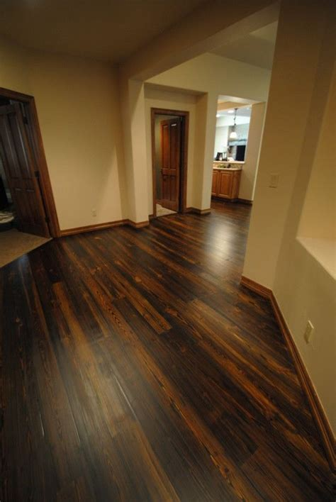 yellow pine stained dark  city hardwood floors denver