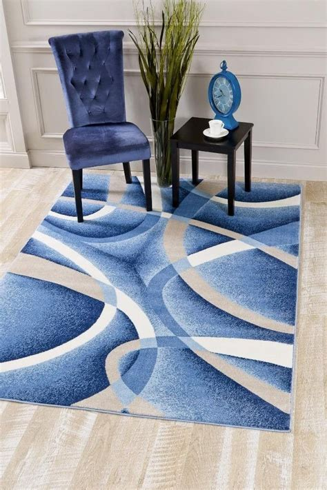 blue abstract modern contemporary discount clearance area