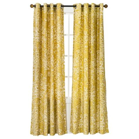 yellow curtain panels target threshold paisley curtain panel target