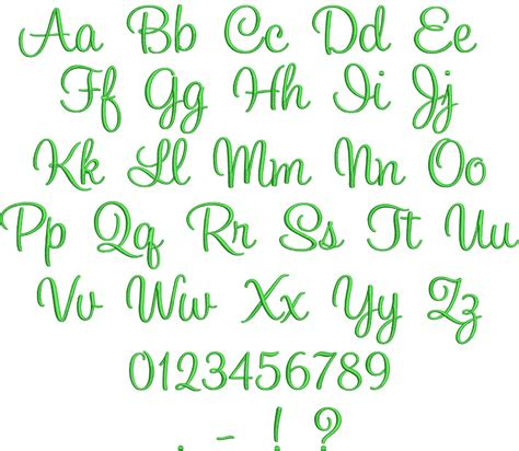 script embroidery fonts  alphabets images simple