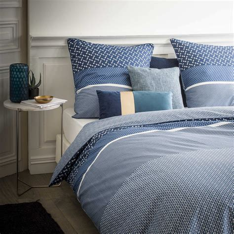 parure de lit bleu parure de lit 2 personnes imprim 233 graphique linge de lit