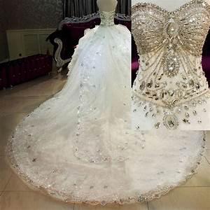 2015 corset crystal ball gown bling wedding dresses With robe de mariée corset