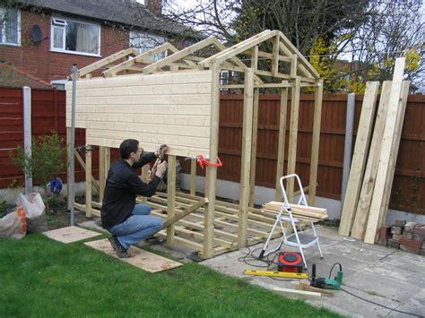 shed builder building a shed