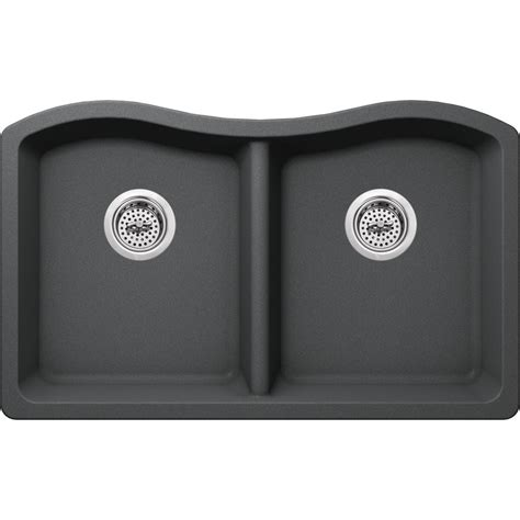 sinks for kitchens ipt sink company undermount granite composite 33 in 50 50 2284