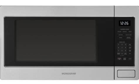 zebshss ge monogram  cu ft countertop microwave oven stainless steel