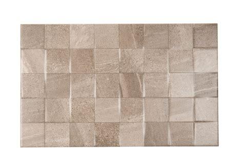 Fiji Grey Ceramic Wall Tile, Pack Of , (l)mm (w)mm