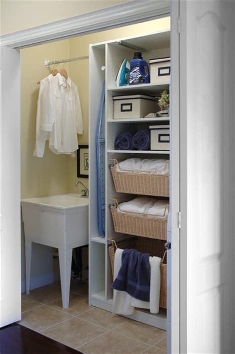 the closet inc laundry closet organizer traditional closet toronto