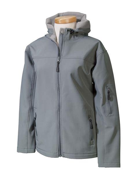 devon jones ladies hooded soft shell jacket