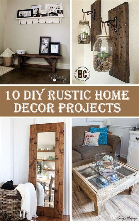 diy home decor projects 10 diy rustic home decor projects crafts diy
