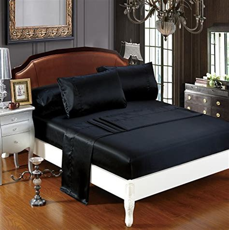 free shipping delboutree silky soft solid matte satin bed