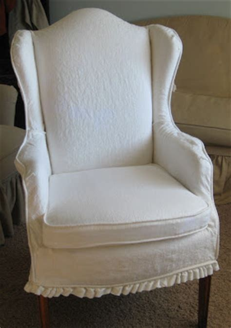 white linen chair before and after slipcovers by shelley