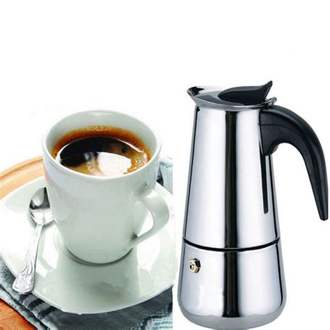 Does a stainless steel bialetti make better coffee than an aluminum one. 6 Cup 300ml Stainless Steel Moka Espresso Latte Percolator Stove Top Coffee Maker Pot | Alexnld.com