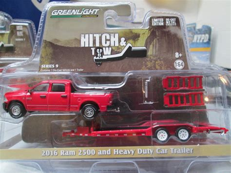 Greenlight Ram  And Heavy Duty  Ee  Car Ee   Trailer By