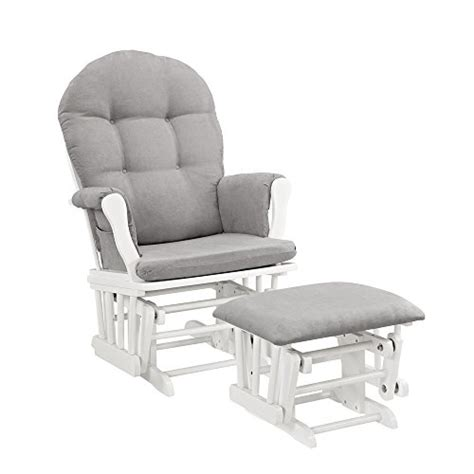 gray and white ottoman windsor glider and ottoman white with gray cushion