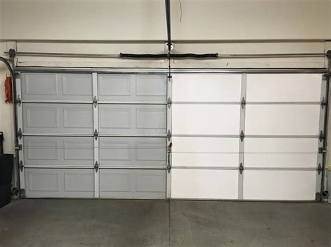 garage door insulation diy garage door insulation installation in steamy arizona insulfoam