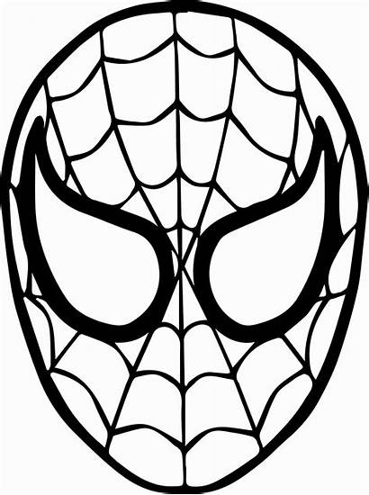 Spiderman Spider Coloring Mask Face Pages Drawing