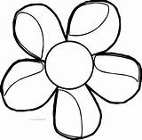 Magnolia Coloring Flower sketch template