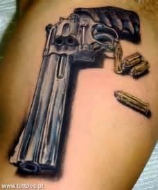 Gun and Bullet Tattoo Design