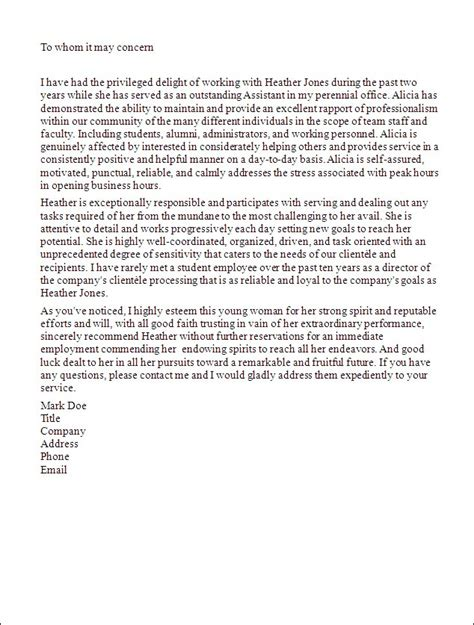 sle letter of recommendation for student letter of recommendation template student 28 images