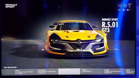 Gran Turismo Sport Car List by Gran Turismo Sport Demo Car List Menu
