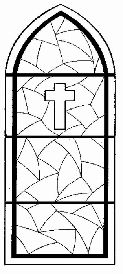 Stained Glass Window Coloring Pages Church Colouring