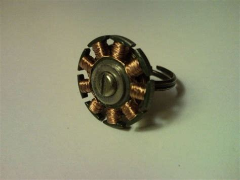 Electric Motor Coil by Steunk Ring From Cd Drive Electric Motor Coil