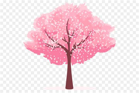 cherry blossom clip art cartoon hand painted cherry tree