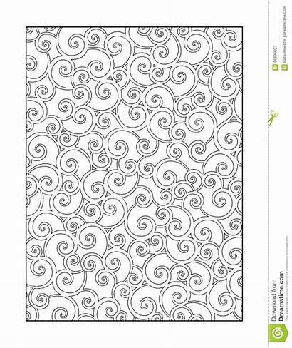 Coloring Background Adults Pattern Swirls Ornamental Children