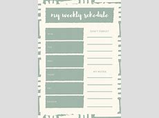 Customize 181+ Weekly Schedule Planner templates online
