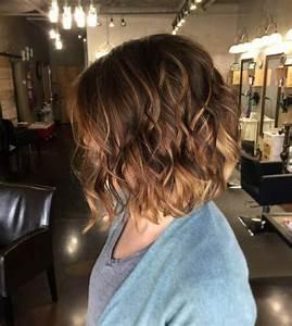 Brune Meche Caramel : balayage chatain clair sur brune cheveux courts ~ Melissatoandfro.com Idées de Décoration