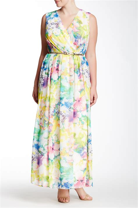 donna ricco floral maxi dress plus size nordstrom rack