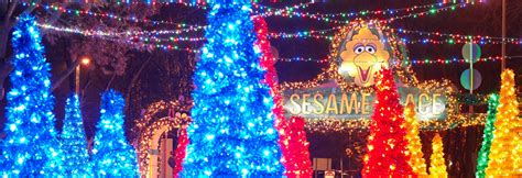 spectacular christmas tree light show and music sesame place