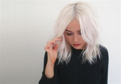 types  platinum blonde  white hair