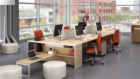 Workspaces With Views That Wow! : Turnstone Tour Bench Collaborative Office Tables