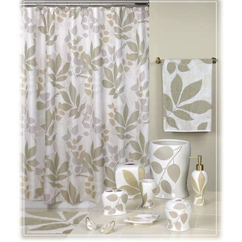 shadow leaves brown shower curtain bath