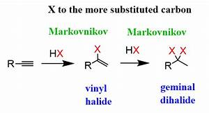 Hydrohalogenation Of Alkynes With Practice Problems