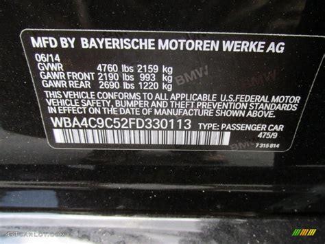 2015 4 series color code 475 for black sapphire metallic
