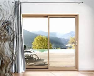 Baie Coulissante Bois : baie coulissante mixte bois alu menuiserie ~ Premium-room.com Idées de Décoration