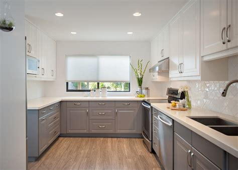 bloombety modern kitchen color schemes with pink mat 35 two tone kitchen cabinets to reinspire your favorite