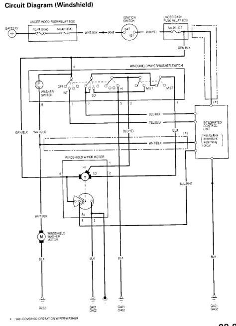 honda civic wiper motor wiring diagram wiper motor wiring question honda tech